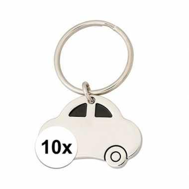 10x sleutelhanger rijbewijs cadeau 4,5 cm