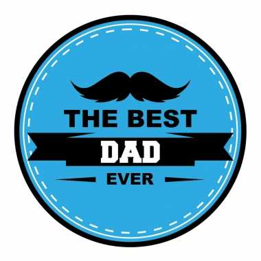 45x stuks vaderdag bierviltjes the best dad ever onderzetters blauw