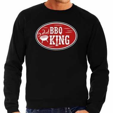 Bbq king cadeau sweater / trui zwart voor heren