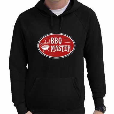 Bbq master cadeau hoodie zwart voor heren