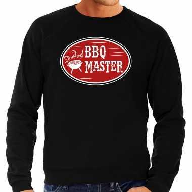Bbq master cadeau sweater / trui zwart voor heren