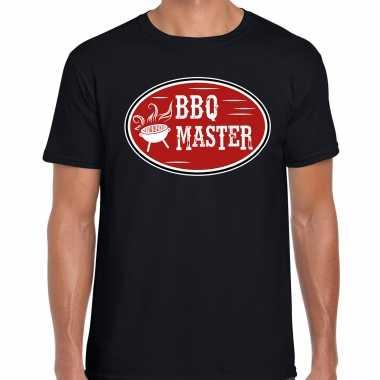 Bbq master cadeau t-shirt zwart voor heren