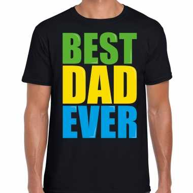 Best dad ever / beste vader ooit fun t-shirt zwart heren