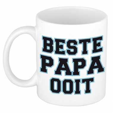Beste papa ooit kado mok / beker voor vaderdag / verjaardag