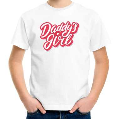 Daddys girl vaderdag cadeau t-shirt wit voor meisjes