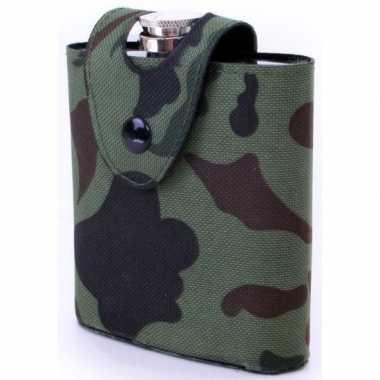 Drank flacon camouflage tasje 177 ml