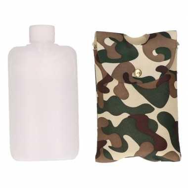 Drank flacon camouflage tasje 350 ml