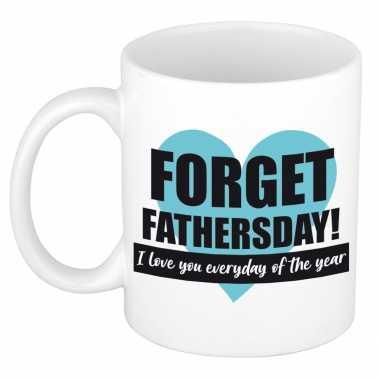 Forget fathers day kado mok / beker voor vaderdag / verjaardag