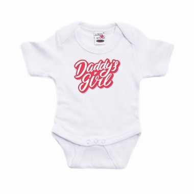 Geboorte cadeau daddysggirl wit