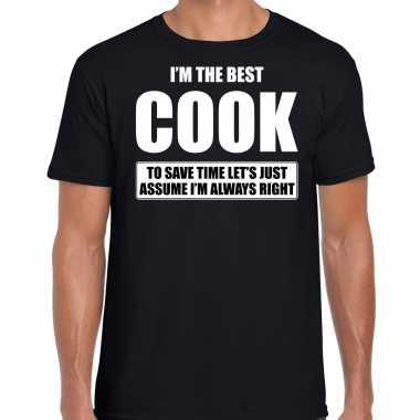 I'm the best cook t-shirt zwart heren - de beste kok cadeau