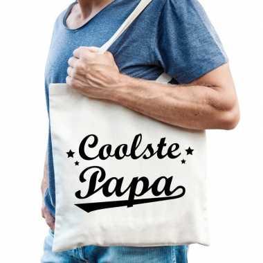 Katoenen cadeau tasje coolste papa