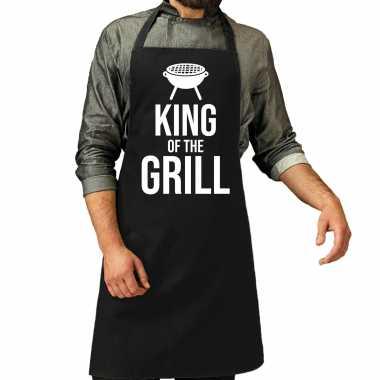 King of the grill barbecue / bbq schort zwart voor heren