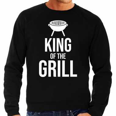 King of the grill bbq / barbecue cadeau sweater zwart voor heren