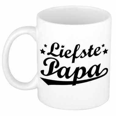 Liefste papa cadeau mok / beker voor vaderdag 300 ml