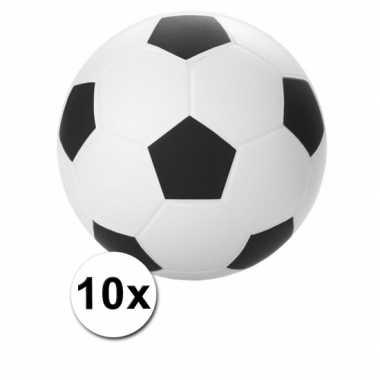 Stressballen voetbal 6 cm 10 stuks
