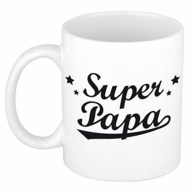 Super papa mok / beker voor vaderdag 300 ml