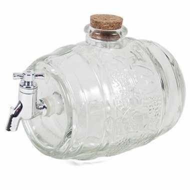 Vaderdag cadeau drank/whisky dispenser met tap 2 liter