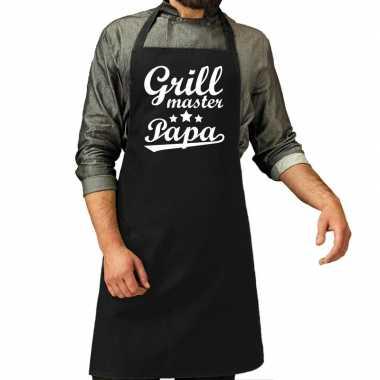 Vaderdag kadoschort grillmaster papa zwart heren