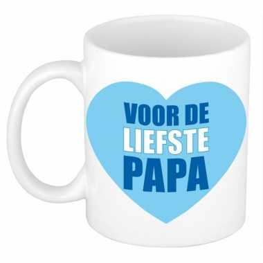 Vaderdag mok / beker voor de liefste papa 300 ml