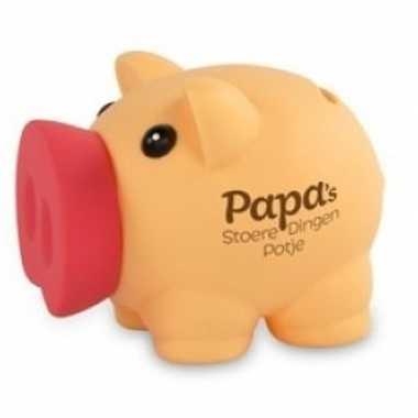 Vaderdag/verjaardag spaarvarken spaarpot papas stoere dingen potje