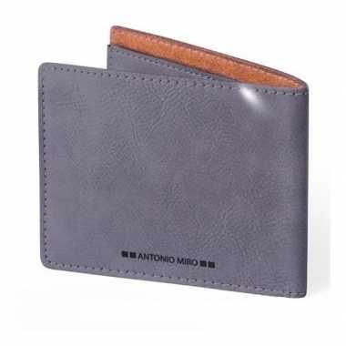 Vaderdagcadeau luxe grijze creditcardhouder