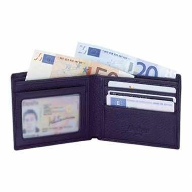 Vaderdagcadeau luxe zwarte portemonnee