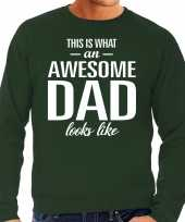 Awesome dad cadeau sweater groen heren vaderdag cadeau