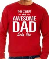 Awesome dad cadeau sweater rood heren vaderdag cadeau