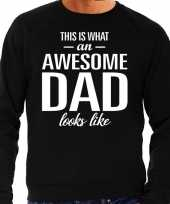 Awesome dad cadeau sweater zwart heren vaderdag cadeau