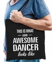Awesome dancer danser cadeau tas zwart voor heren