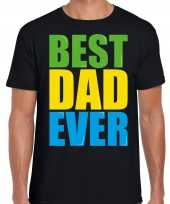 Best dad ever beste vader ooit fun t shirt zwart heren