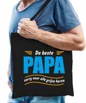 Beste papa cadeau tas zwart voor heren