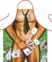 Funartikel schort strip poker man