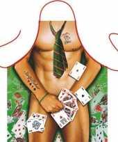 Funartikel schort strip poker man