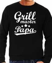 Grill master papa bbq barbecue cadeau sweater zwart voor heren