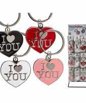 I love you sleutelhangers rood