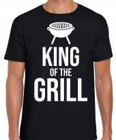 King of the grill bbq barbecue cadeau t shirt zwart voor heren