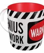Mok warning genius at work wit