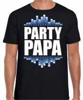 Party papa fun tekst t shirt zwart heren